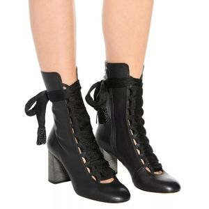 Chloe Harper Leather Lace Up Heeled Boots
